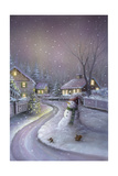 Snowman Giclee Print by  DBK-Art Licensing