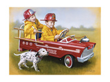 Murray Fire Truck Giclee Print by David Lindsley