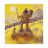 David and Goliath Giclee Print by Bill Bell