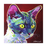 Cat - Devon Rex Reproduction procédé giclée par  Dawgart
