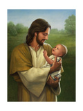 Jesus and Baby Giclee Print by David Lindsley