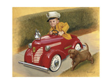 1937 Garton Ford Fire Chief Giclee Print by David Lindsley