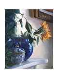Vaso Blu e Fiore Arancione Giclee Print by Danka Weitzen