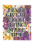 Never Give Up Giclee Print by Carla Bank