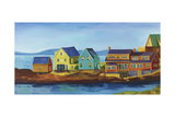 Monhegan Docks Reproduction procédé giclée par Catherine Breer