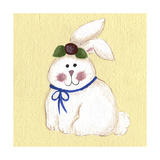 Bunny with Rose Giclee Print by Debbie McMaster