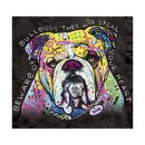 Bulldog Heart Giclee Print by Dean Russo