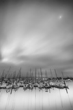 Moored Craft Yearning for the Moon Photographic Print by Geoffrey Ansel Agrons