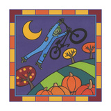 Stitch the Scarecrow Bike 2 Giclee Print by Denny Driver