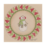 Snowman Circle Giclee Print by Debbie McMaster