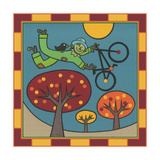 Stitch the Scarecrow Bike 1 Giclee Print by Denny Driver