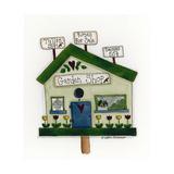 Garden Shop Birdhouse Giclee Print by Debbie McMaster