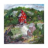 The Red Mill Giclee Print by Bill Bell