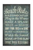 Beach Rules Giclée-tryk af Erin Clark