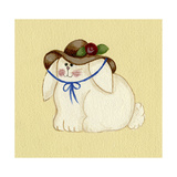 Bunny with Hat Giclee Print by Debbie McMaster