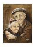 Elderly Couple Giclee Print by Dianne Dengel