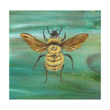 Yellow Bumble Bee Giclee Print by Gigi Begin