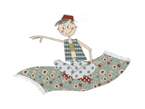 Aladin on Carpet Giclee Print by Effie Zafiropoulou
