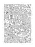 Live Laugh Love Giclee Print by Hello Angel