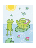 Frogs Giclee Print by Esther Loopstra