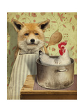 Fox and Chicken Giclee Print by  J Hovenstine Studios