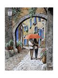 Abbracciati Sotto l'arco Giclee Print by Guido Borelli