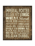 Craft Beer Sign II Giclee Print by Erin Clark
