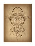 Cowboy Giclee Print by Greg Simanson