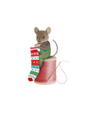 Mouse on Spool Giclee Print by  J Hovenstine Studios