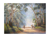 Early Morning Muster Giclee Print by John Bradley