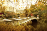 Autumn at Bow Bridge Photographic Print by Jessica Jenney