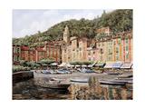Barche a Portofino Giclee Print by Guido Borelli