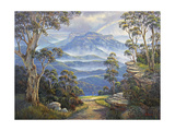 After the Storm - Mt. Solitary Giclee Print by John Bradley