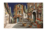 Due Strade al Mattino Giclee Print by Guido Borelli