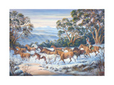 The Man from Snowy River Giclee Print by John Bradley