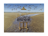 Oyster Catchers Giclee Print by Harro Maass