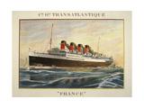 Transatlantique France Giclee Print by Marcus Jules