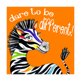Different Zebra Giclee Print by Jennifer Nilsson
