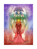 The Faerie Chakra Giclee-trykk av Linda Ravenscroft