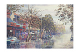 Long Lunch - Darby St. Giclee Print by John Bradley
