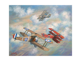 The Red Baron Bugs Out Giclee Print by John Bradley