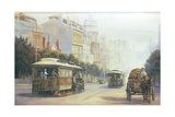Melbourne Cable Cars Giclee Print by John Bradley