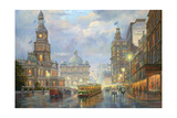 Evening Showers - Sydney Giclee Print by John Bradley