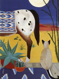 Thoughts on a Desert Moon Giclee Print by Jan Panico