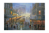 A Wet Evening - Sydney Giclee Print by John Bradley