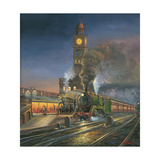 Night Train Giclee Print by John Bradley