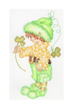 St Patricks Pixie Giclee Print by Karen Middleton