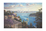 Afternoon Light Sydney Harbour Giclee Print by John Bradley