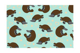 Platypus Love Giclee Print by Joanne Paynter