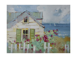 Green Nantucket Shutters Giclee Print by Joyce Hicks